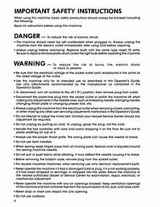 Important Safety Instructions  Danger  Warning