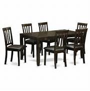 PC Dining Room Table Set Dining Table With Leaf And 6 Dining Chairs Furniture Of America Meckins Espresso 5 Piece Counter Height Dining Breakfast Corner Nook Dining Set On Sears Dining Room Furniture Sets Nash Piece Rectangular Extension Dining Room Set In Oak From