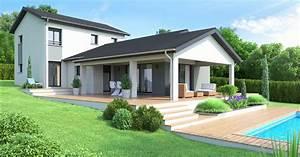 maison contemporaine type 3 volumes terrain en legere With dessin de belle maison 14 une ruche dans son jardin