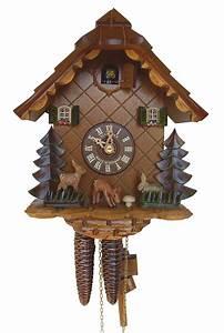 Cuckoo, Clock, 1-day-movement, Chalet-style, 24cm, By, Anton, Schneider, 9
