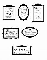 Halloween Labels Printable Apothecary Followpics sketch template