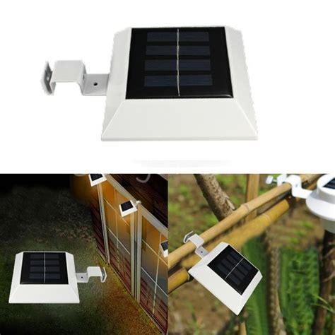 solar powered gutter light reviews solar powered 4 led fence gutter light outdoor yard wall
