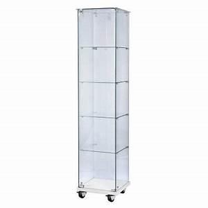 Petite Vitrine En Verre : vitrine verre tremp 40x40x180cm top verre socle blanc 4 ~ Dailycaller-alerts.com Idées de Décoration