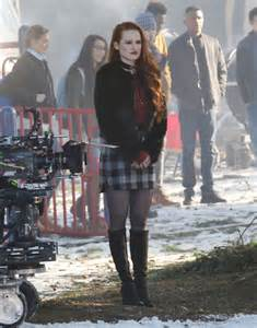 MADELAINE PETSCH on the Set of Riverdale ...