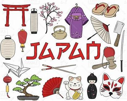 Japan Japanese Clipart Vector Doodles Pack Asia