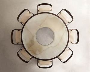 Round table and chairs top view