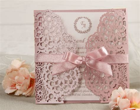 laser cut wedding invitations personalised gatefold laser cut wedding day evening