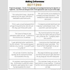 Free Making Inferences Worksheet