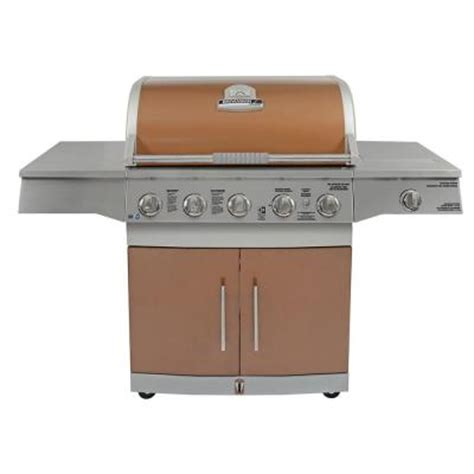 brinkmann medallion 5 burner gas grill outdoor backyard