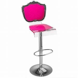 Tabouret De Bar Rose : tabouret chaise de bar baroque rose plexiglass acrila ~ Teatrodelosmanantiales.com Idées de Décoration