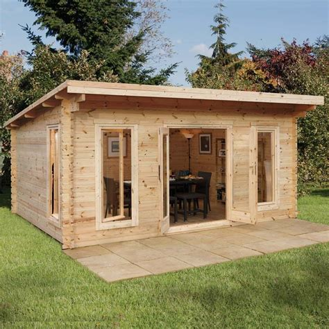 log cabin sheds 16 5 quot x 13 1 quot ft 5 x 4m wooden garden log cabin office