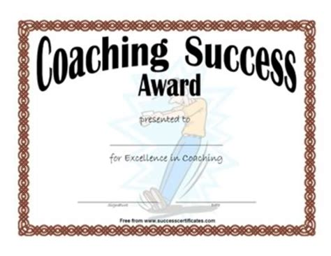 Baseball Achievement Certificate Baseball Success Certificate For Coaching Success Certificate Templates