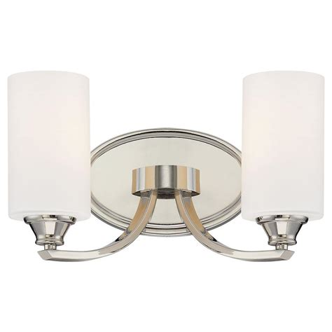 Minka Lavery Tilbury 2light Polished Nickel Bath Light
