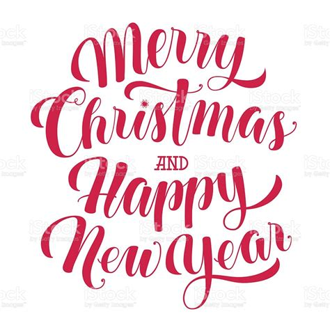 Christmas, email, letter, message, new, year icon. Merry Christmas And Happy New Year Text Calligraphic ...