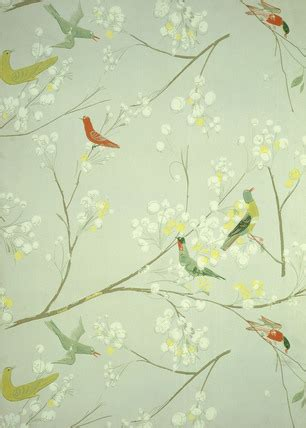 bird pattern wallpaper  luise delefant memoryprints