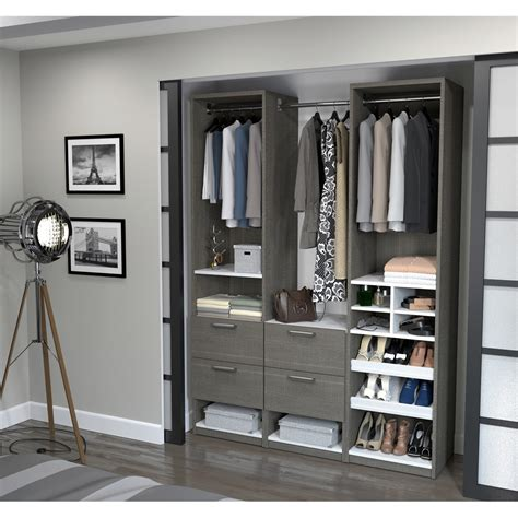 elite 59 quot reach in closet in bark gray and white