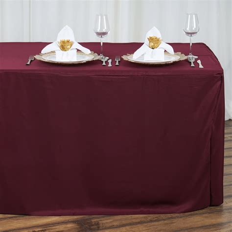 tablecloth for 8 foot table 8 feet fitted polyester banquet tablecloth wedding table