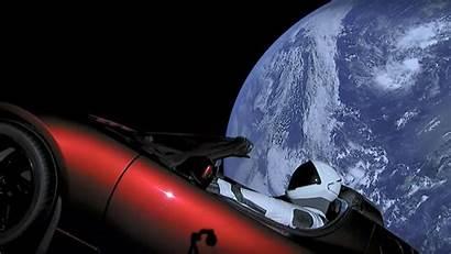 Space Tesla Musk Elon Roadster Starman Into