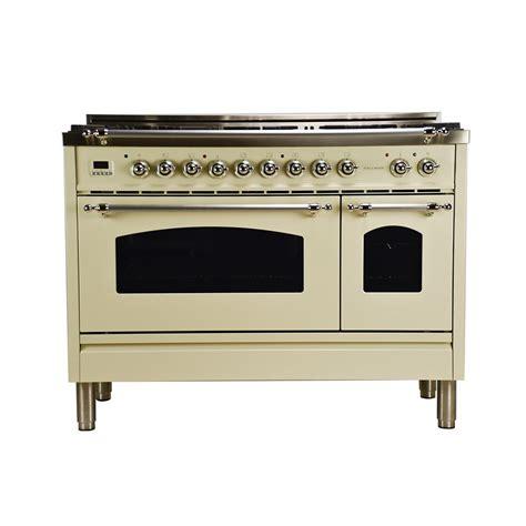 Hallman 48 in 50 cu ft Double Oven Dual Fuel Italian