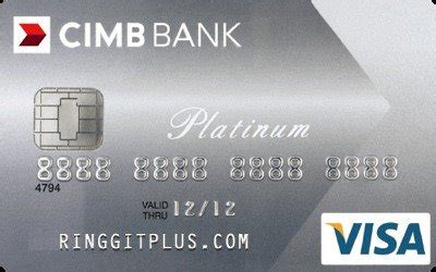 For more info about cimb credit card and related details such as credit card advisor, credit limit, installment plan, loan, machine and more. CIMB Platinum Visa - No Annual Fee for Life