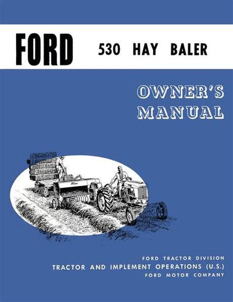 ford  hay baler operators manual