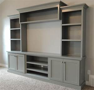 family room with large painted entertainment center - Bing