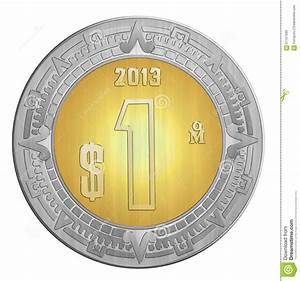 One Mexican Peso Stock Illustration  Illustration Of