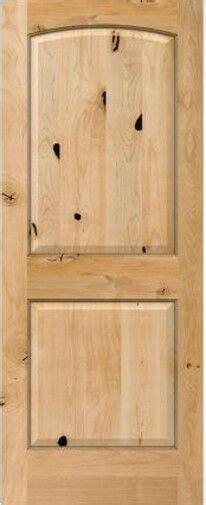 authentic knotty alder  panel arch top interior doors