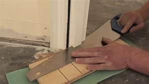 couper et bien ajuster un bas de porte pour la pose de With comment enlever un bloc porte