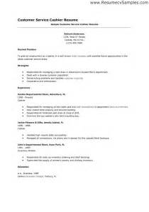 resume exles for cashiers retail general retail cashier resume sle 2016
