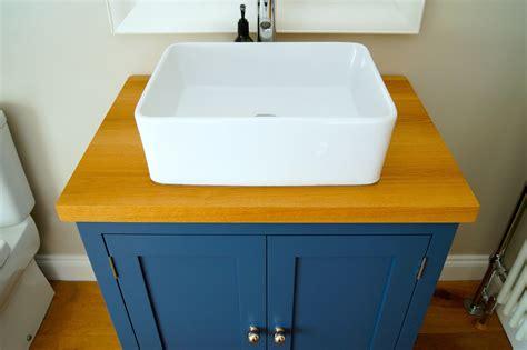 bespoke bathroom sink cabinets constructed  pure oak