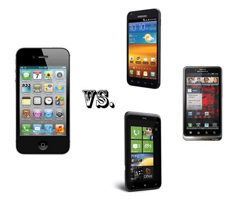 iphone vs smartphone iphone 4s vs the smartphone elite galaxy s ii bionic