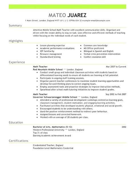 resume templates  australia australia