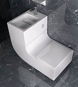 Space-Saving Sink-and-Toilet Combined Design
