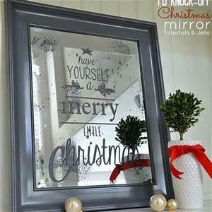 DIY Christmas Mirror Pottery Barn knock off} Tip Junkie