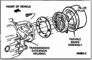 How To Remove Parking Brake Drum On Rear Of Transmisson