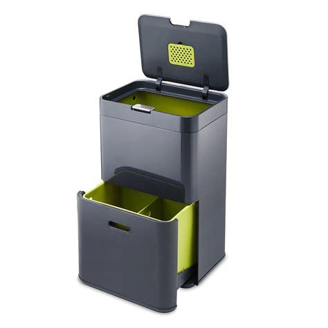 poubelle de cuisine totem 48 poubelle à tri sélectif anthracite 30020 j