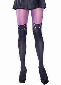 Black Cat Tights | Attitude Clothing