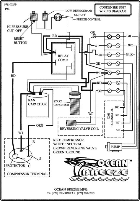 Condenser Unit Wiring Diagram Ocean Breeze Mfd