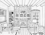 Perspective Drawing Colouring Point Sketch Drawings Omeletozeu Sketches Coloring Sketching sketch template