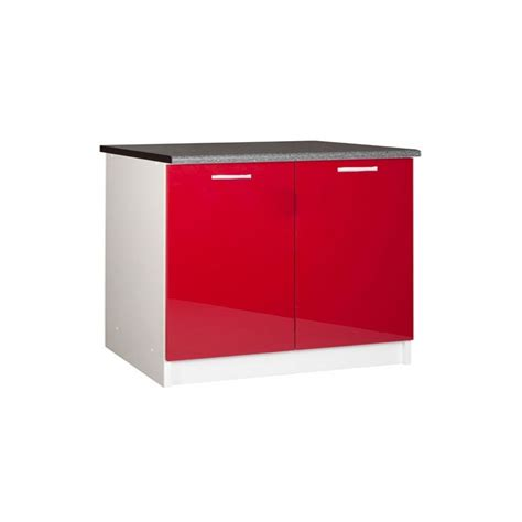 porte meuble de cuisine meuble de cuisine bas 2 portes 120 cm tara laqué