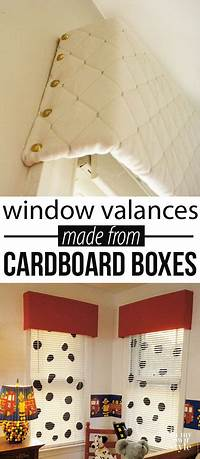 how to make a window valance Recycled Cardboard Window Valance - In My Own Style