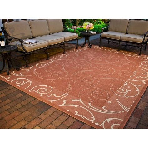 9 X 9 Outdoor Rug by Indoor Outdoor Oasis Terracotta Area Rug 9 X 12