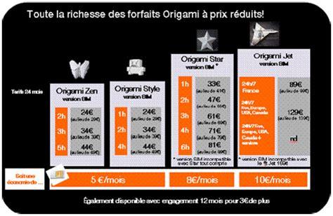 Les Forfaits Orange Origami Disponibles En Version Sim