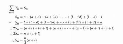 Arithmetic Proof Sum Formula Finite Siyavula Sequences