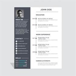 simple curriculum vitae for student cv vecteurs et photos gratuites