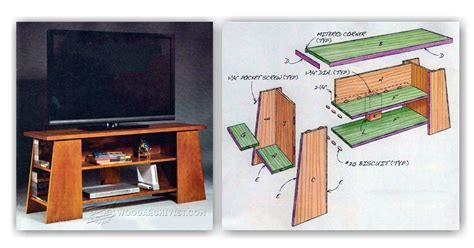 tv stand plans woodarchivist