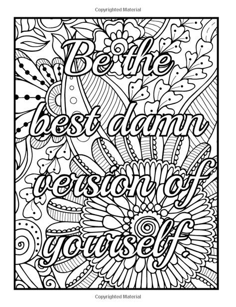 inspirational coloring pages for adults be f cking awesome and color an
