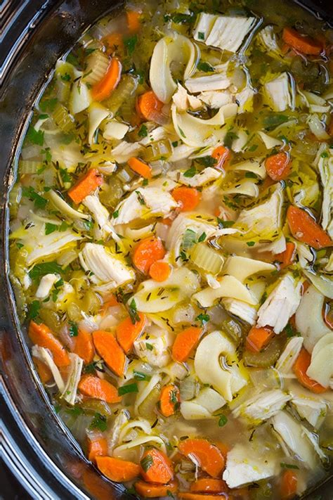 chicken noodle soup cooker slow cooker chicken noodle soup cooking classy