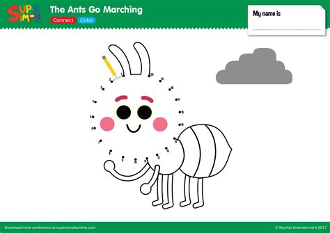ants  marching connect color super simple